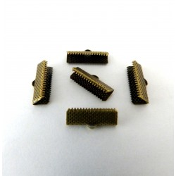 Lot de 20 embouts griffes - métal bronze - 20 x 8 mm